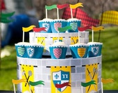 Medieval Knights Castle Dragon Birthday PRINTABLE Party Collection - You Customize EDITABLE TEXT Instant Download