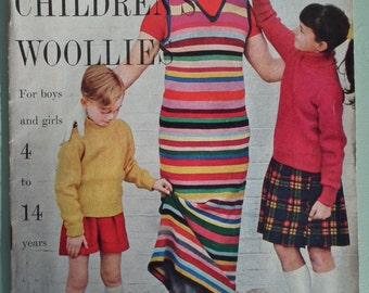 VOGUE Knitting Book 50s 60s Vogue Children's Woollies No. 3 1950s 1960s original patterns cardigans jackets etc for girls and boys