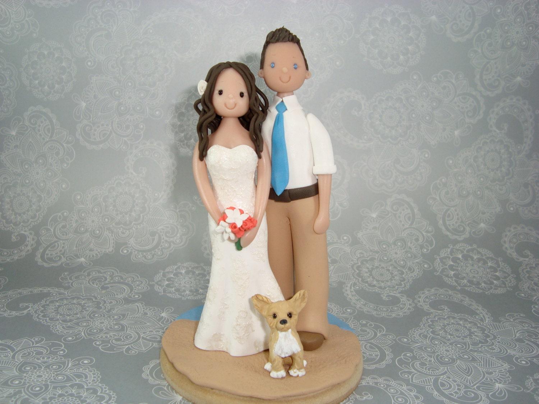 Custom Made Outdoor Beach Theme Wedding Cake Topper