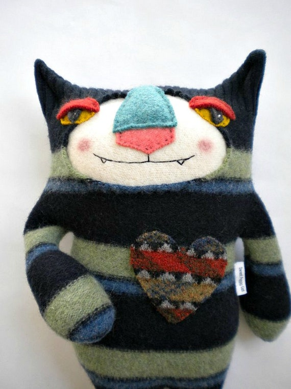 Striped Cat Stuffed Animal