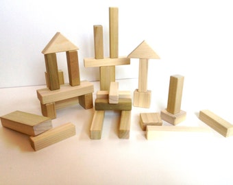 27 Natural Wood Blocks - Natural - Safe - Eco-Friendly - Lowest Prices Online - Guaranteed