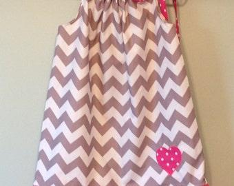 Valentines Pillowcase Dress Sizes 12m-8