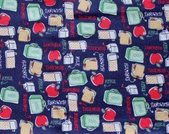 DESTASH - Navy Blue Lunch Theme Fabric