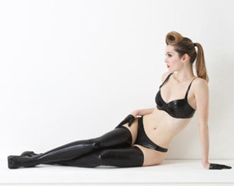 Lady Lucie Latex Classic Latex stockings