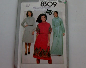 Simplicity 8309 Size 10 Misses' Blouse and Skirt In Two Lengths UNCUT