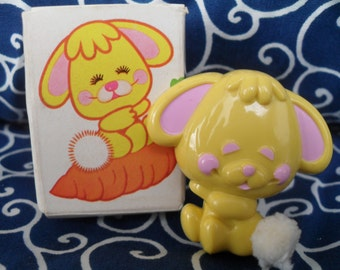 Vintage Avon Pin Pal Fragrance Glace Cottontail Bunny Rabbit 1970s Cute Easter
