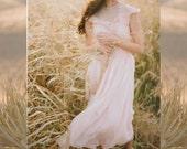 1950s Blush Vintage Wedding Dress - Pink Short Wedding Dress
