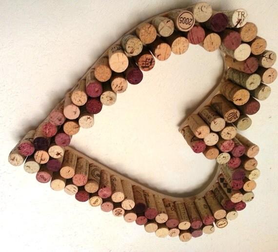 Cork Wreath: Wine Cork Heart Wreath