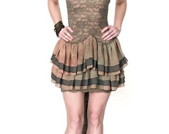 Lace Multi Color Ruffle Dress