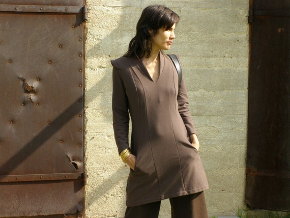 Cozy tunic- Women's tunic-dress-long sleeves tunic dress-Winter fashion-Fall fashion-Womens sweater-Zina's tunic
