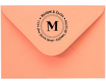 Personalized Custom Made Return Address and Name Rubber Stamps R105