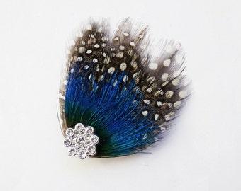 STAR - Mini Guinea and Peacock Hairclip