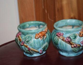 A Pair of Squirrel Vases