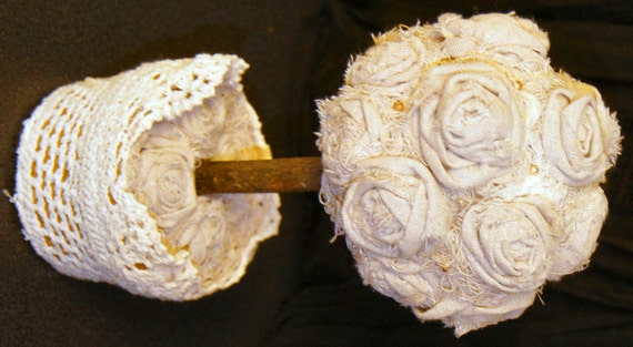 Items similar to sale rosette topiary rose wedding