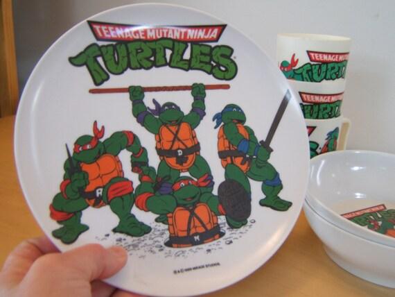 Teenage Mutant Ninja Turtles Dinner Plate 1989