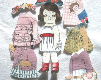 Child's Travel Toy  Fabric Paper Doll   Church toy  Emily