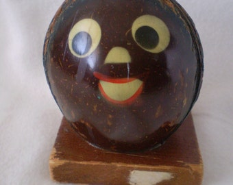 On sale Reduced Price RARE Nutsie Cute Coconut Novelty Piggy Bank