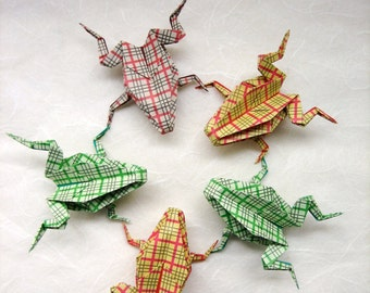 ORIGAMI - 5 Jumping Frogs