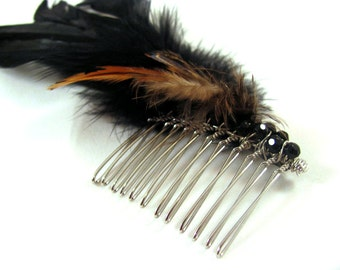 Feather Fascinator Comb