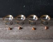 4 Vintage Gilded Dessert Glasses From Nowvintage on Etsy