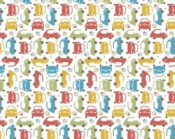 Riley Blake Cruisers Green Mini Cars fabric