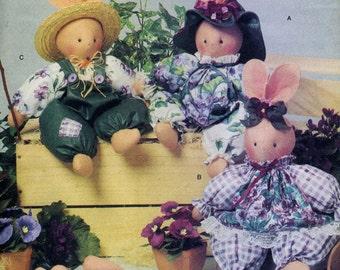 Vintage Butterick 6615 UNCUT Luv N Stuff Sweet Violets Bunnies Craft Sewing Pattern
