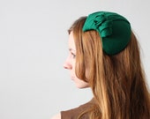 vintage kelly green fascinator - 1919vintage