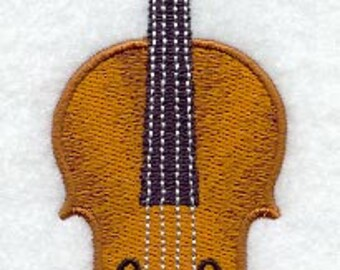 Violin Embroidered Terry Kitchen Towel Bathroom Hand Towel