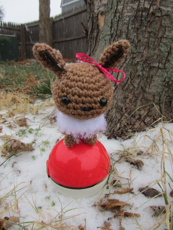 Made to Order - Crochet - Chibi Pokemon Amigurumi - Eevee