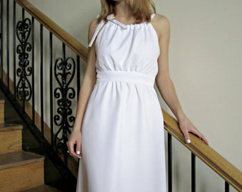 grecian inspired wedding gown long white wedding dress empire waist dress white bridal
