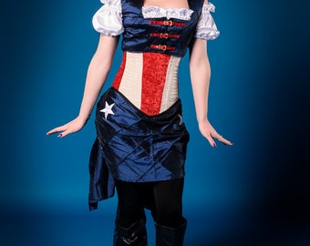 Captain America Inspired Steampunk Corset