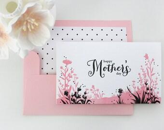 Mother's Day Card - Letterpress Flower Meadow