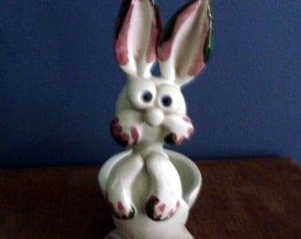 Funny Bunny Ceramic Egg Holder