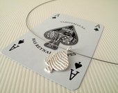 Spades Pendant The Ace Of Spades Pendant Sterling Silver Pendant Spade Jewelry