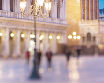 Venice Photography - Ghosts of Venice, Night in Piazza San Marco, Wall Decor, Italy Travel Photograph, Large Wall Art