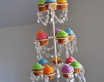 Floating Chandelier Cupcake Stand For 15 Cupcakes MADE TO ORDER