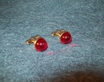 Vintage Anson Red Dome Cuff Links