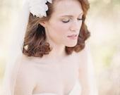 Wedding Headpiece, Bridal Headpiece, Floral, Pearls, Lace - Style 211
