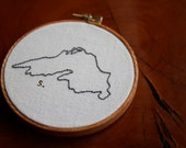 "Hand Sewn 4"" Lake Superior Embroidery"