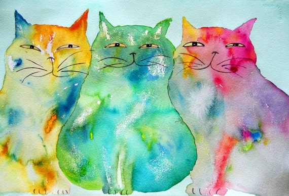 Original Cat Art - Haleiwa Cats