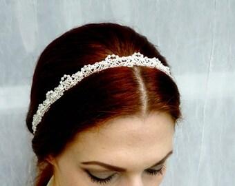 Handmade Pearl Headband - Ivory or White Headpiece - Vintage Style Headband - Bridal Headpiece - Vintage Wedding