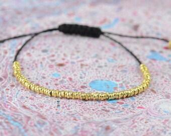 Sterling silver vermeil hoops bracelet