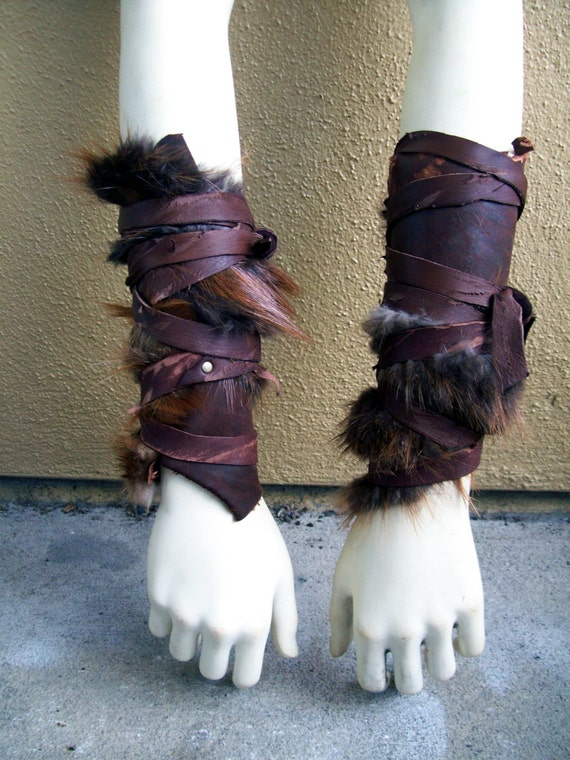 Forsworn Arm Wraps Tribal Leather Bracers Skyrim Elder