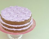 FAKE ROSETTE CAKE for cake stand, cake pedestal stand ,wedding cake stand, cake stand plate faux cake wedding cake for wedding decoration