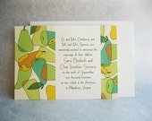 Perfect Pear, a printable wedding invitation