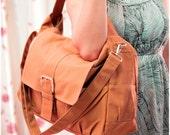 Women tote bag, Brown Messenger bag, Canvas Bag, Handheld Shoulder Bag, Diaper bag, Laptop Bag, Book Bag, Travel Bag