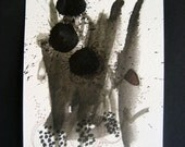 Expressionist Art Painting Original Fine art black and white abstract 18 by Julie Steiner