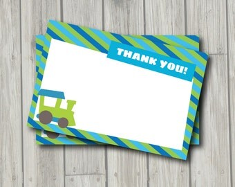 Train Thank You Note - Train Thank You Card - Digital Printable Thank You - Train Theme - Train Printable