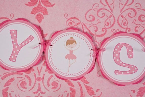 baby shower ballerina theme baby shower decorations in light hot