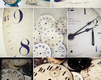 clocks postcard sets